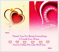everything i could ever want love card example
