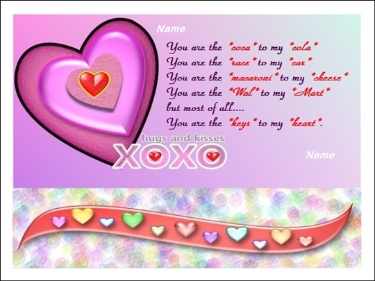 Example Of Flower Love Card Including Word Template
