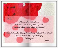 flowers are like love card example