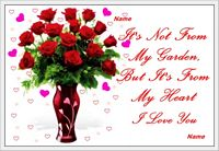 flowers from my heart love card example