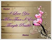i love you more than i ever thought possible love card example