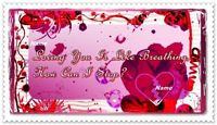 red heart love you card example