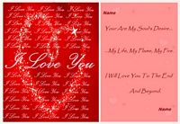 love until the end love card example