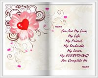 you complete me love card example